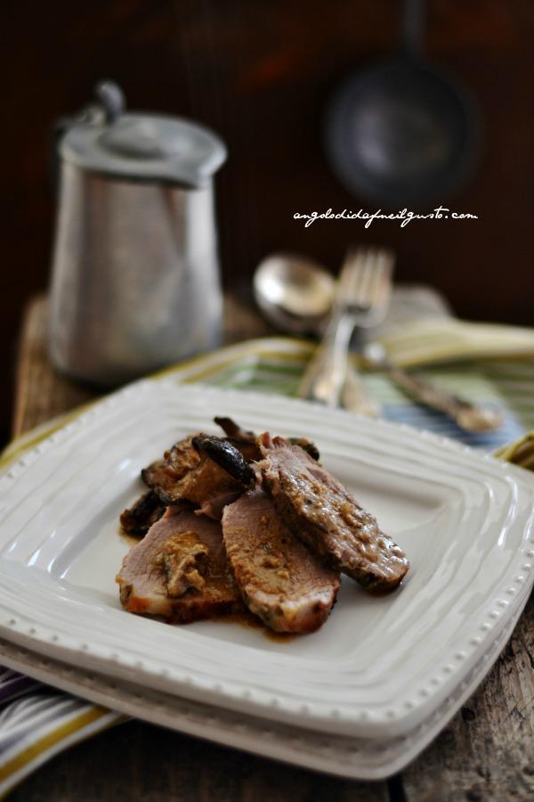 Arrosto di maiale con funghi cardoncelli 35