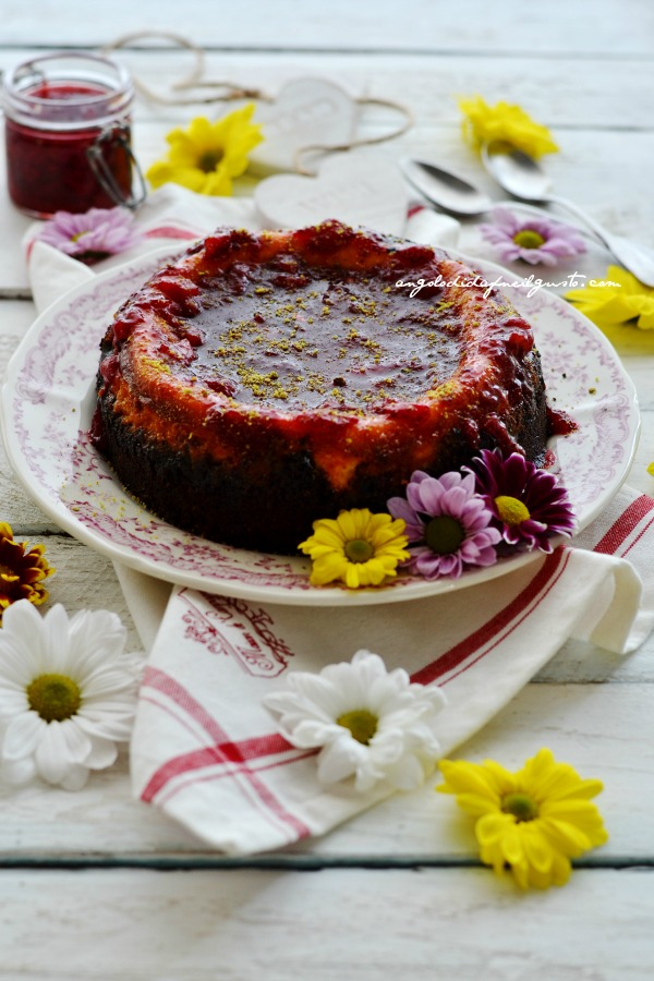 Cheesecake, fragole
