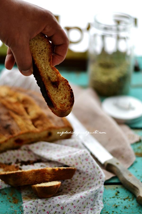 Pane alla segale con pomodori secchi, olive taggiasche e rosmarino (3)