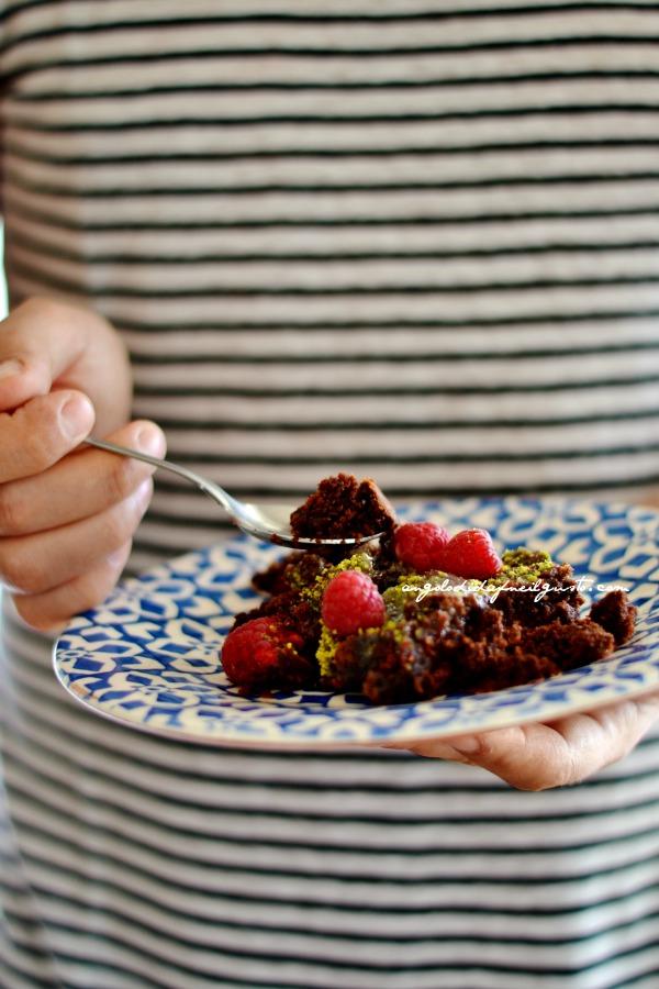 Torta al cioccolato e lamponi (5)