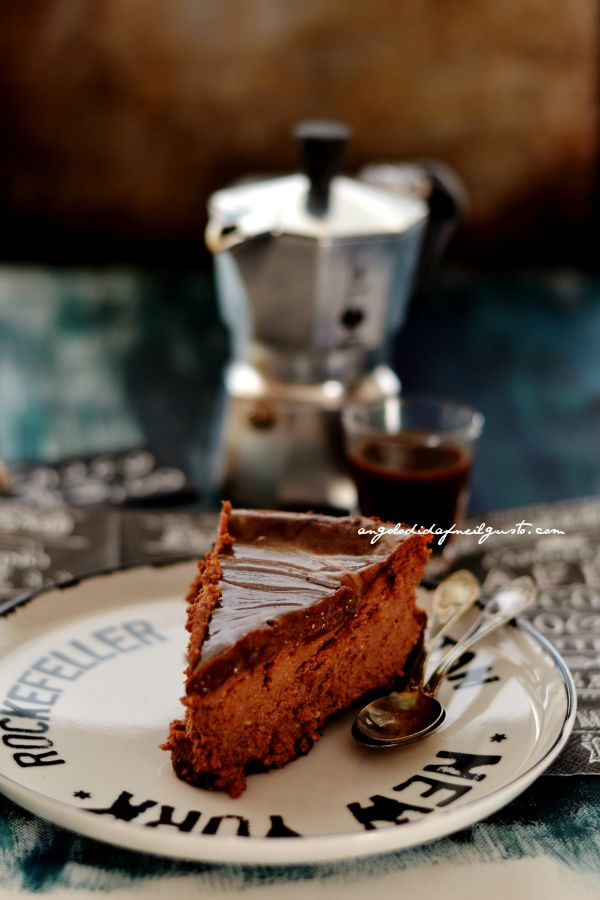 Chocolate mousse cheesecake with salted caramel sauce (5)