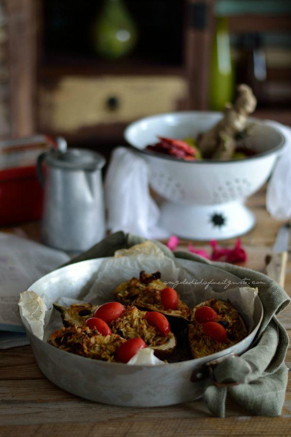 Melanzane ripiene di riso e tonno (5)