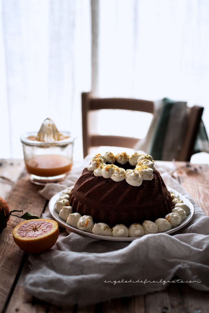 Ciambella al cioccolato con farina di riso, carote, mandorle e arancia1857