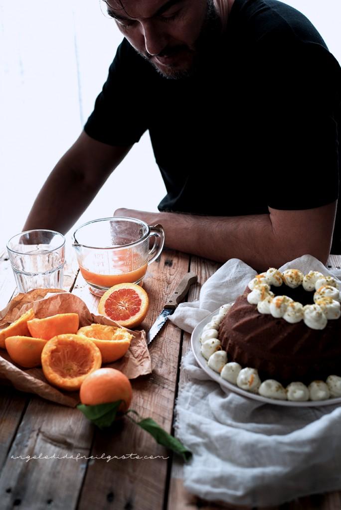 Ciambella al cioccolato con farina di riso, carote, mandorle e arancia1871