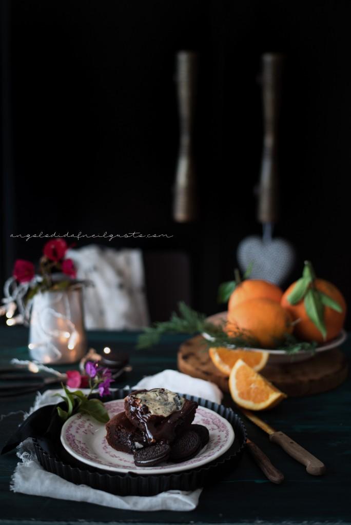Orange oreo cheesecake brownies1283