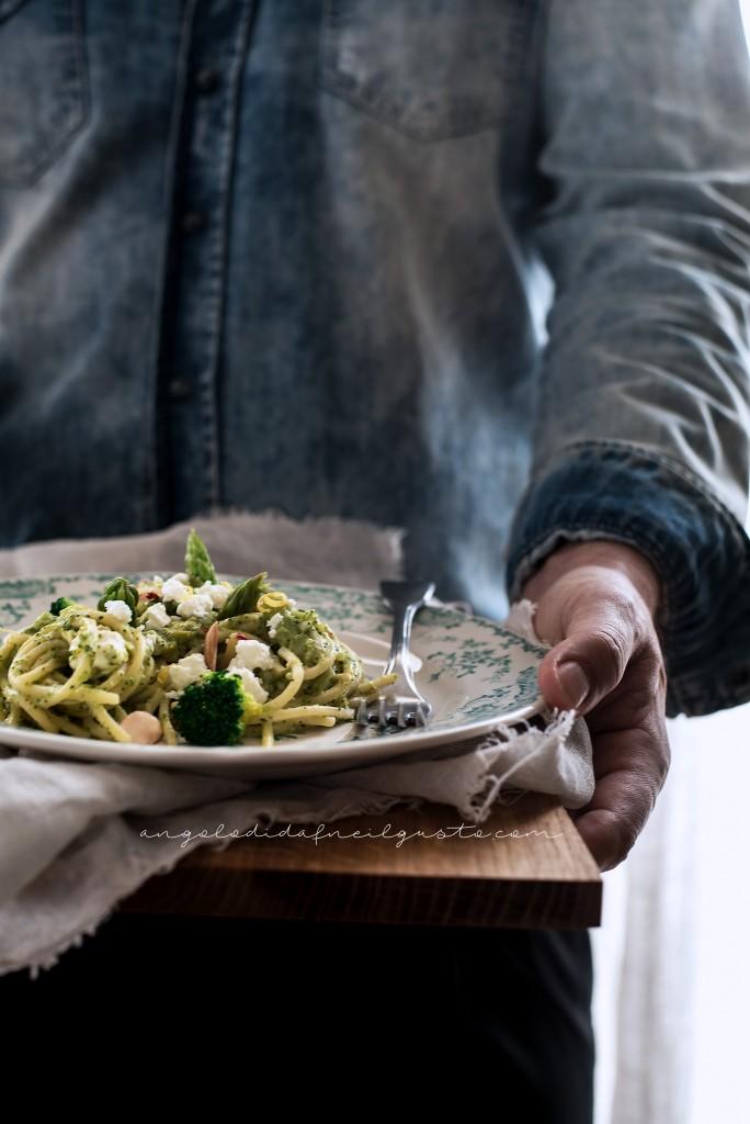 Spaghetti broccoli asparagi feta_1806