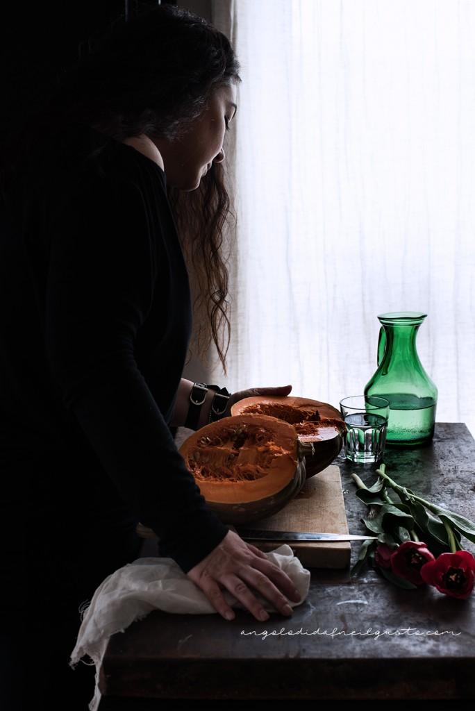 Spaghettoni alla crema di zucca e robiola_3332