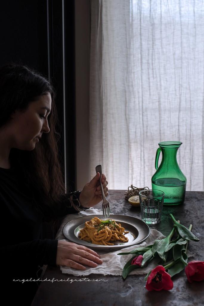 Spaghettoni alla crema di zucca e robiola_3378
