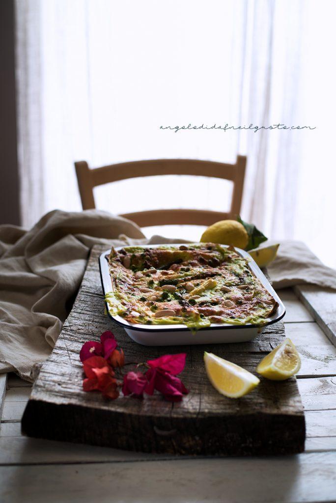 Lasagne agli asparagi e piselli 5028