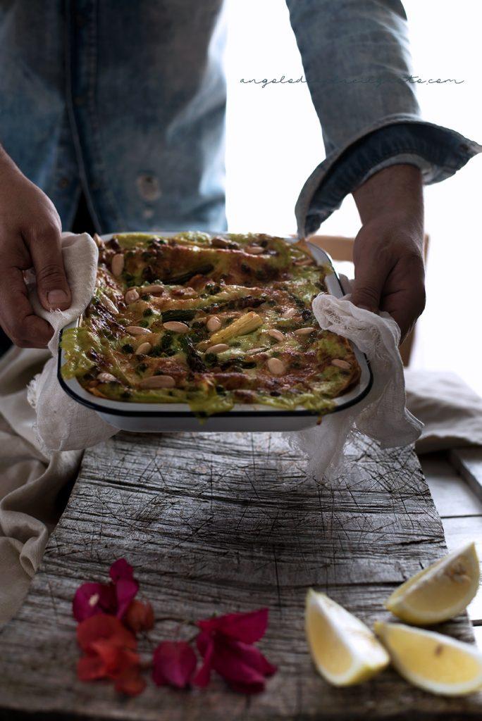 Lasagne agli asparagi e piselli 5035