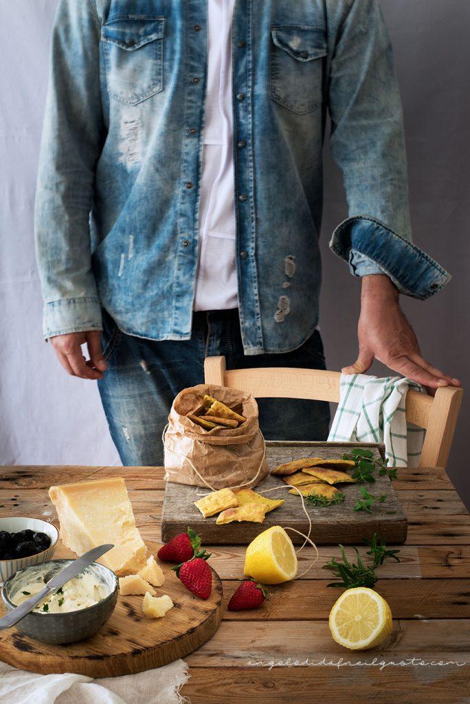 Cracker alla senape, mandorle e pistacchi con crema di robiola5