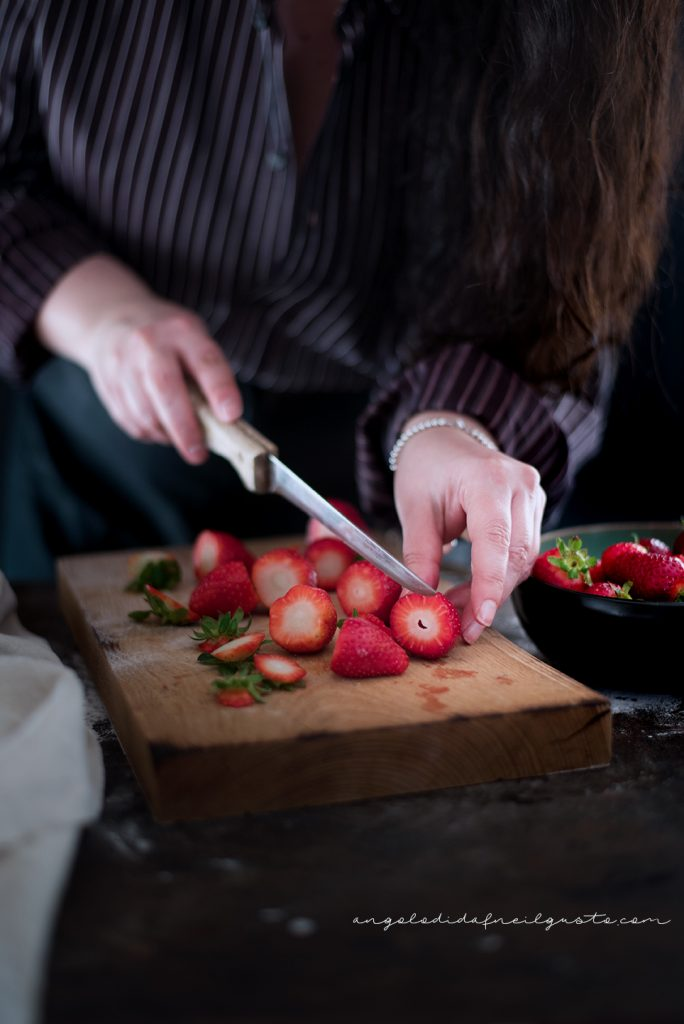 Crostata alle fragole con frolla ai pistacchi 5183