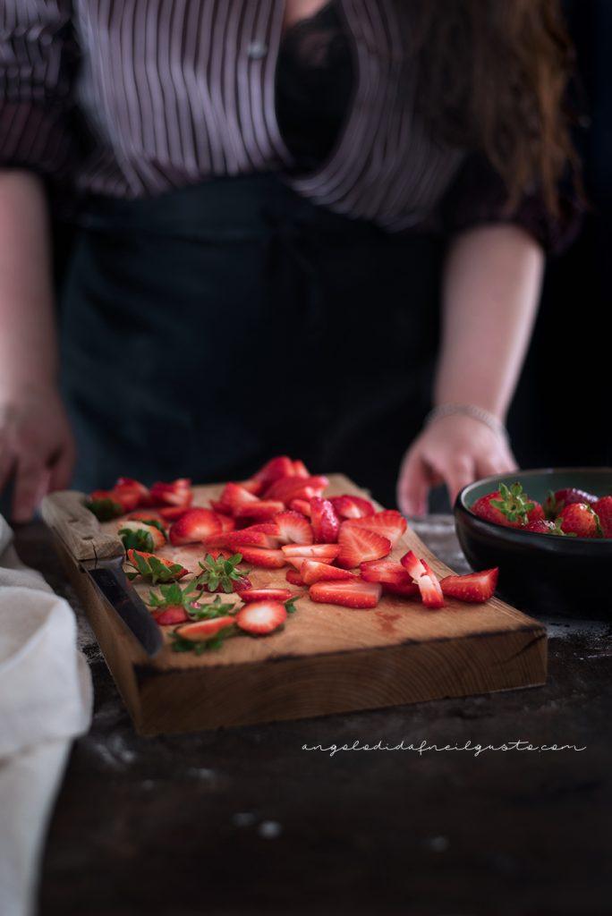 Crostata alle fragole con frolla ai pistacchi 5190