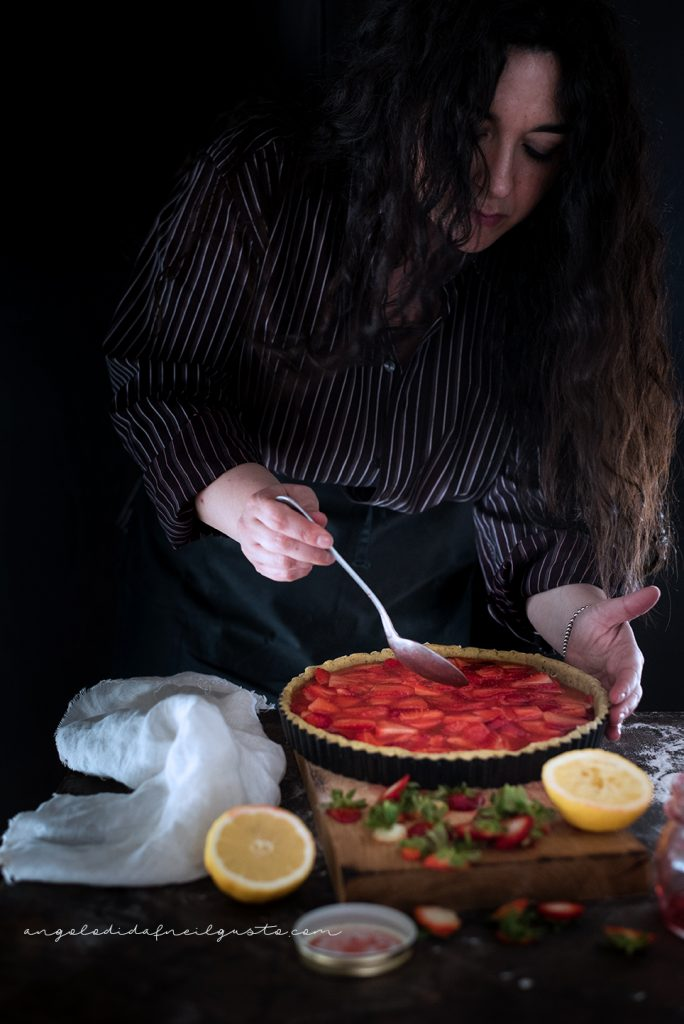 Crostata alle fragole con frolla ai pistacchi 5253