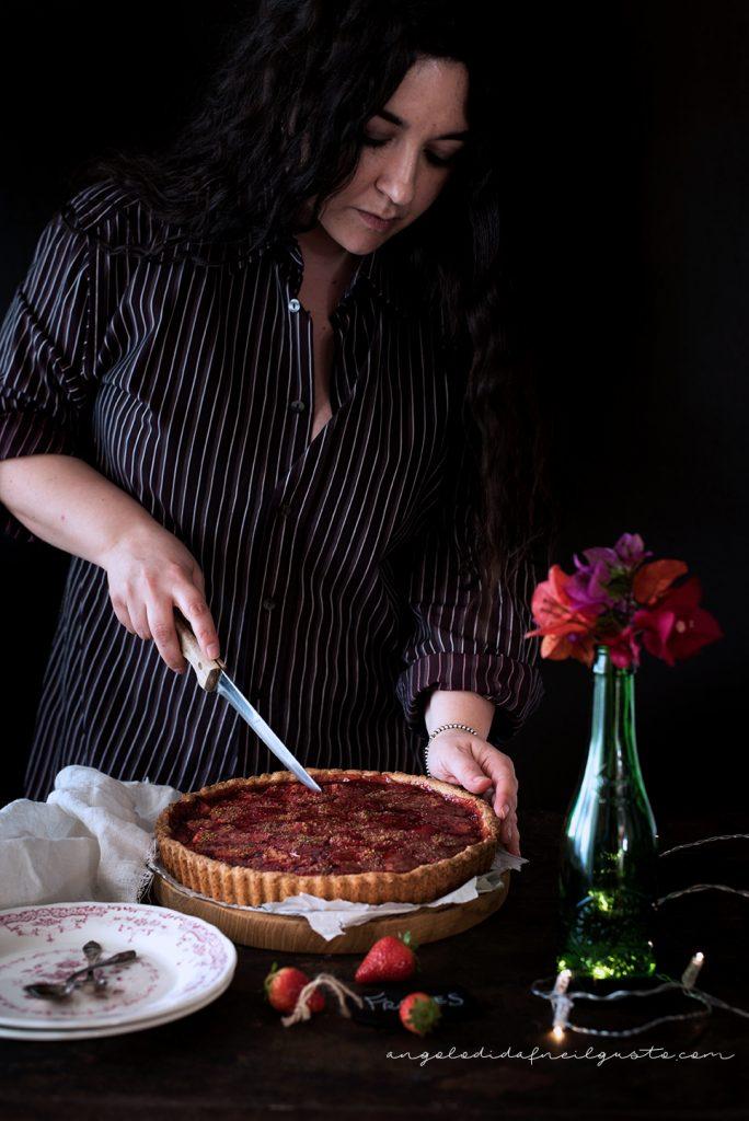 Crostata alle fragole con frolla ai pistacchi 5273