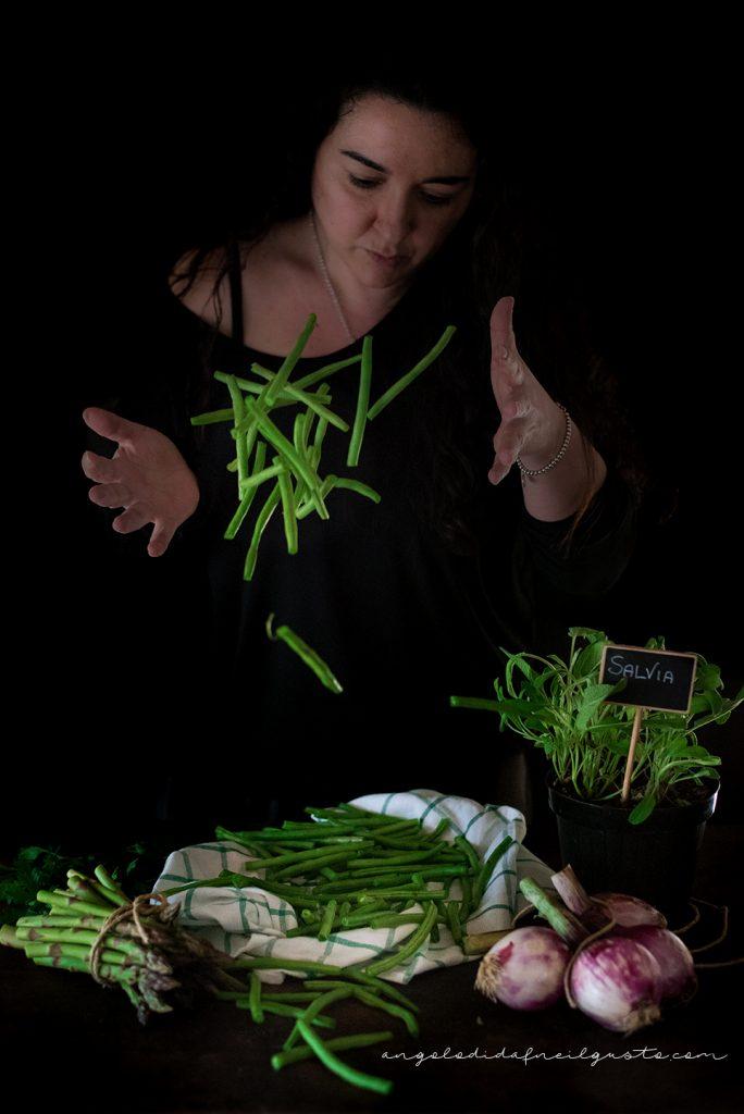 Troccoli con asparagi, fagiolini e trito aromatico_5336