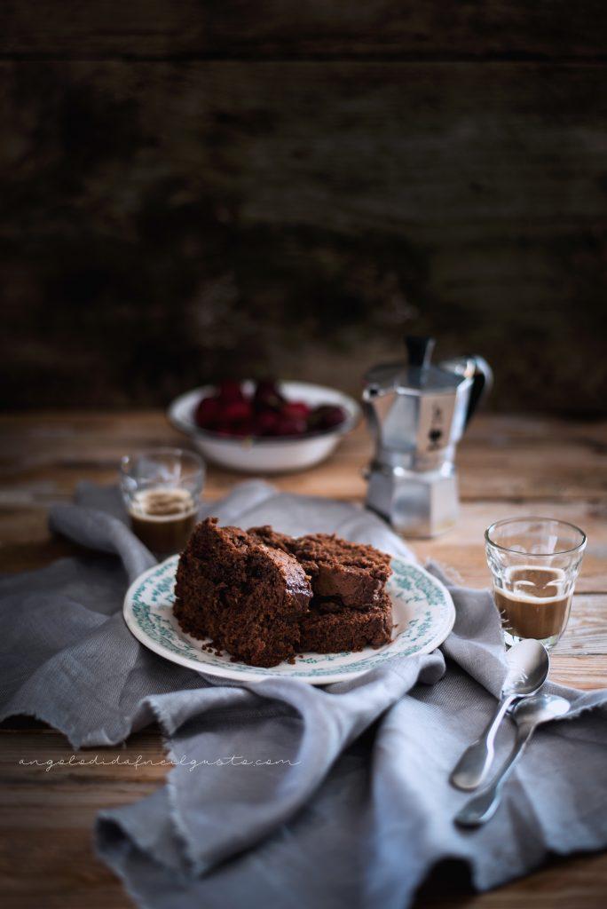 Cake al cioccolato, avena e noci 957
