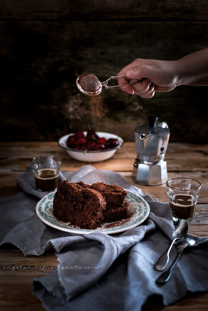 Cake al cioccolato, avena e noci 959