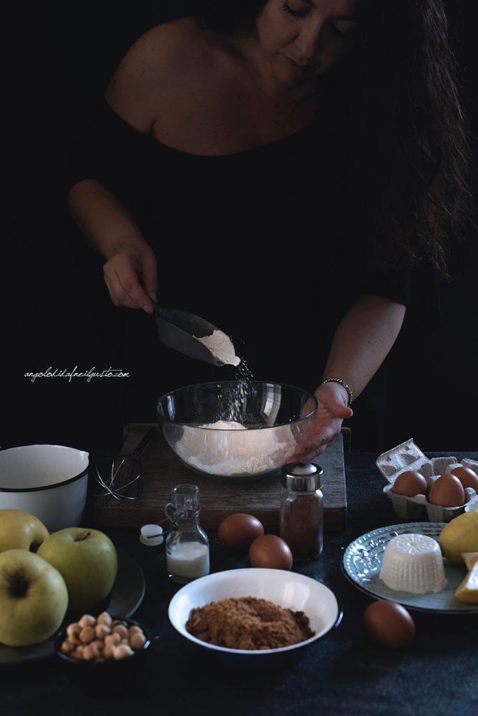 torta-di-mele-al-farro-nocciole-e-composta-di-mele-cotogne-2