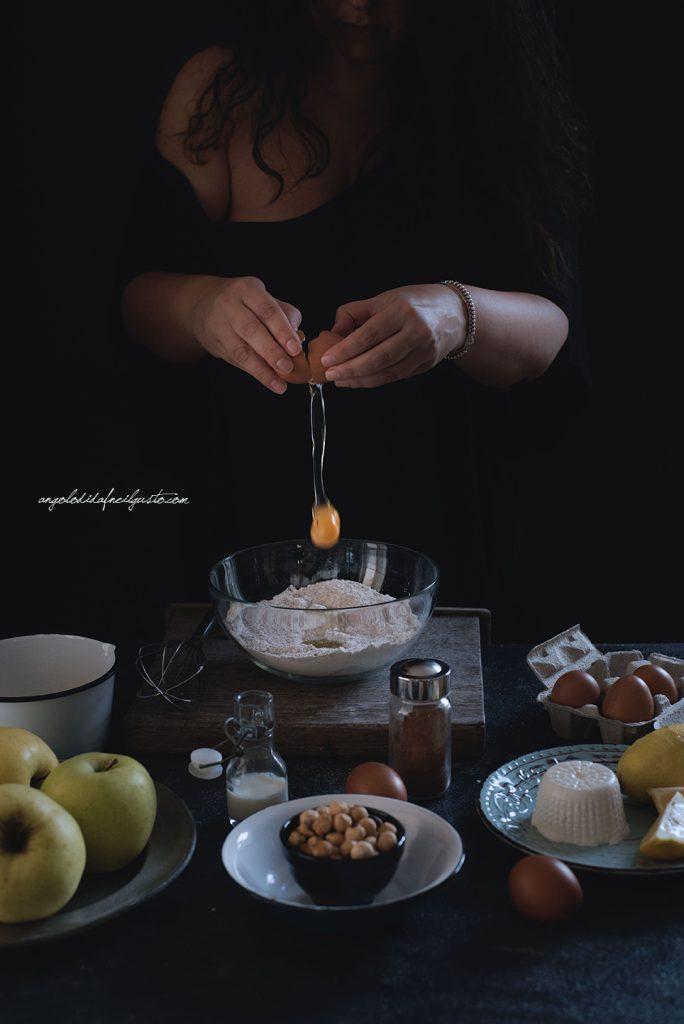 torta-di-mele-al-farro-nocciole-e-composta-di-mele-cotogne-4