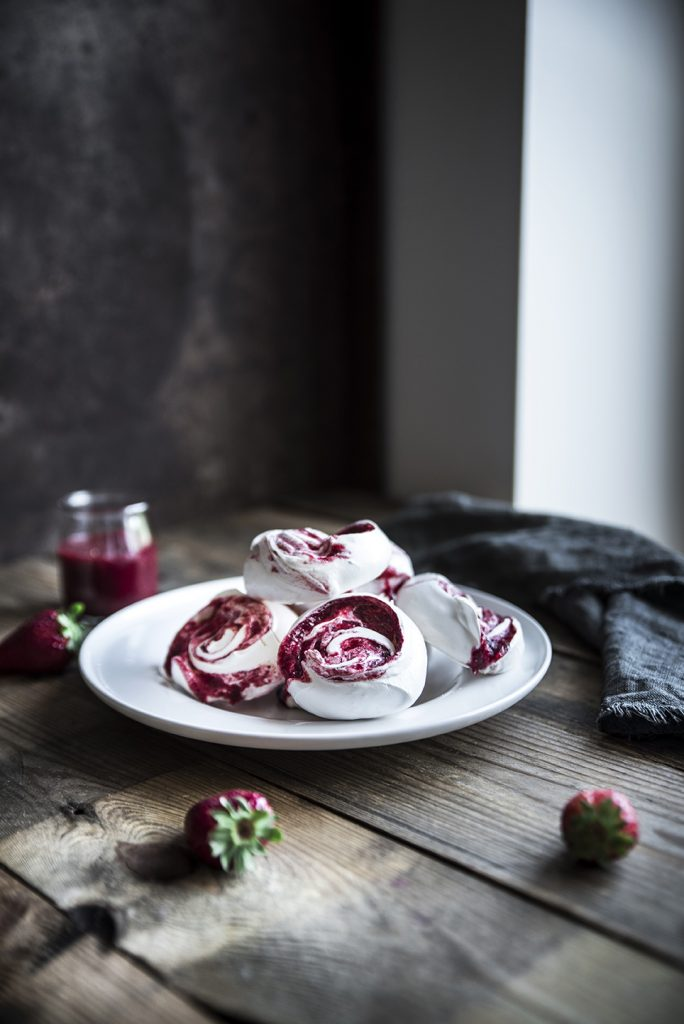 Meringhe alle fragole - Strawberry Meringue