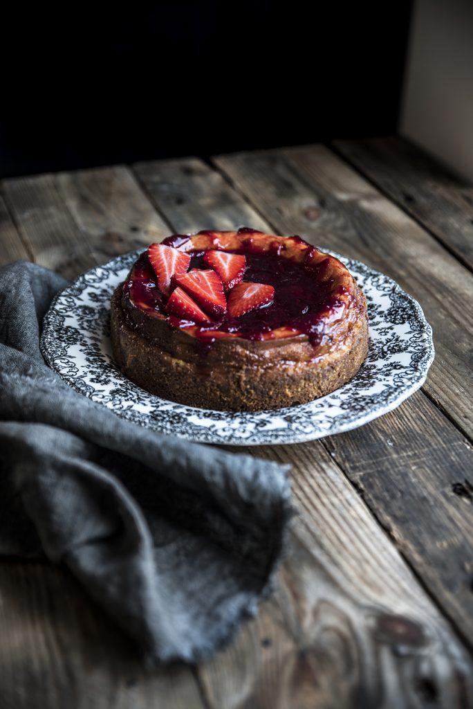 Un'altra Cheesecake alle fragole, preparata con quello c'è